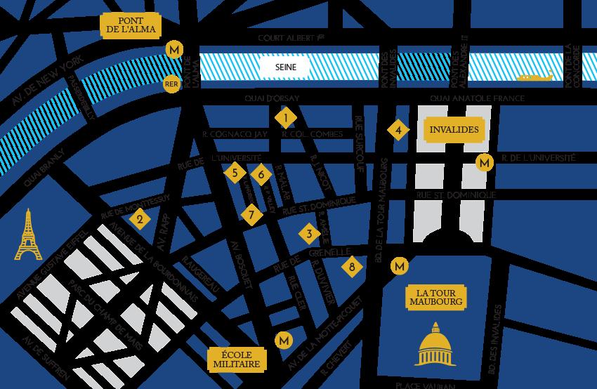 Campus Map The American University Of Paris - American university map