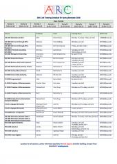 ARC Link Tutor Schedule Spring 2018