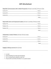 Global Professional Skills Program Worksheet Cover