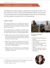 MA Global Communications program flyer