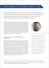 MA Diplomacy and International Law Program Flyer