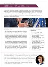 MA International Affairs Program Flyer