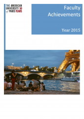Faculty Achievements Brochure 2015