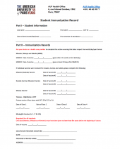 Download the Student Immunization Form