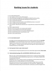 Banking FAQ Document
